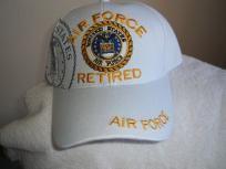 U S Air Force (Retired) new White ballcap