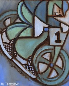 Bmx Freestyle painting by Tommervik