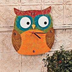 Owl Clock - OrientalTrading.com, but for Mom some time.