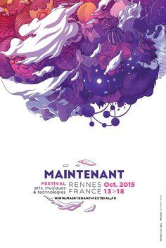 Maintenant Festival 2015, Rennes (identité visuelle : Ori Toor)