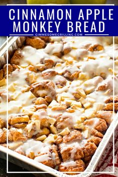Easy and delicious Monkey Bread stuffed with tender, juicy apples and topped with icing. This Apple Monkey Bread on the grill is perfect for camping or mornings when you don't want to heat the house up! You can also make it in the oven! Apple Recipes, Bread Recipes, Sweet Recipes, Sauce Recipes, Camping Breakfast, Apple Breakfast, Breakfast Recipes, Orange Juice Cake, Apple Monkey Bread