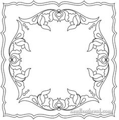 Hungarian Embroidery Pattern: Floral Square