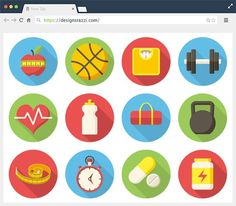 12+ #Free #AI Vector Fitness #Icons |