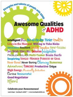 """Celebrate the Strengths of ADHD! - ADHD Kids Rock - """"Most of our focus is on the """"negative aspects and problems"""" of ADHD and rarely are the strengths or positive qualities of ADHD appreciated or celebrated."""""""