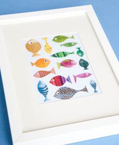 Fische basteln mit Kindern   Meine Svenja