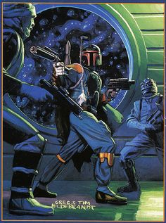 Star Wars Shadows of the Empire -- Boba Fett vs Dengar and Bossk (1996)