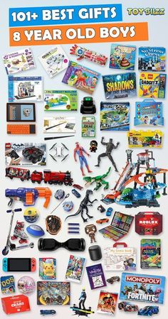Gifts for 8 year old boys or girls for birthdays, Christmas, or any occasion. See the best toys for 8 year old boys. Tons of gift ideas for 8 year olds sorted by category. for boys Gifts For 8 Year Old Boys 2019 – List of Best Toys Birthday Gifts For Teens, Teen Birthday, Best Birthday Gifts, Birthday Games, Birthday Crafts, Husband Birthday, Best Gifts For Boys, Presents For Boys, Design Shop