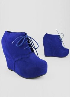 blue suede wedges...also in coral $27.50 gojane