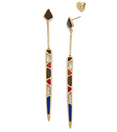 Tory Burch Stone Inlay Earring