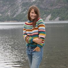 Colorful and so much fun to knit. A sweater for out Nordic weather inspired by traditional Scandinavian knitwear. Sweater Knitting Patterns, Knitting Ideas, Cool Patterns, Fleas, Crochet, Scandinavian, Knitwear, Men Sweater, Turtle Neck