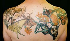 Butterfly and moth tattoo by Marie Wadman