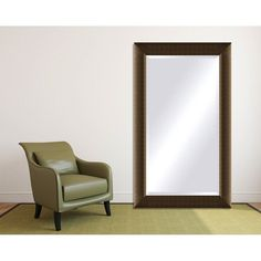 Framed Beveled Mirror - Light Bronze (40 x 50)