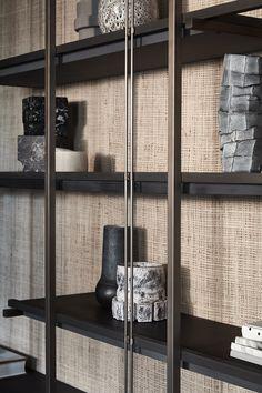 Shelving Design, Bookshelf Design, Living Room Wall Units, Living Room Designs, Custom Furniture, Furniture Design, Room Deviders, Carpentry And Joinery, Joinery Details