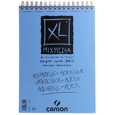 Canson XL Mixed Media Pad Attractive textured paper, suitable for acrylic, gouache, drawing and watercolour this fine tooth paper erases well and blends easily. Paper Manufacturers, Paper Supplies, Get One, Jigsaw Puzzles, Mixed Media, Watercolor, Canvas, Drawing Stuff, Crafting
