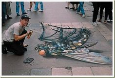 amazing snapz | ... in Snaps: An amazing drawing on the floor (Amazing 3D Sidewalk Art