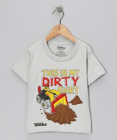Little builders will love getting down and dirty with this cleverly embellished tee thanks to its easy fit and earth-moving graphic. When the day's done and it's time to trade the bulldozer for a teddy bear, all-cotton construction means it's a breeze to clean.100% cottonMachine wash; tumble dryImported