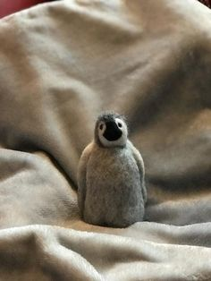 Needle Felted Soft Sculpture Gifts by Cute Baby Penguin, Felt Penguin, Felt Fox, Baby Penguins, Needle Felted Animals, Felt Animals, Needle Felting, Felt Gifts, Quirky Gifts