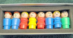 Fisher Price people I had these as a kid and the boat for them. I played in the bath tub for HOURS! I loved my FP people.