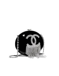 Minaudiere, resin, stass & silver-tone metal-black - CHANEL