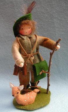 Boswachter met hertje   (Pippilotta)