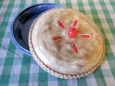 Vintage Cherry Pie Plate with Lid by ConstantGalore on Etsy, $19.50