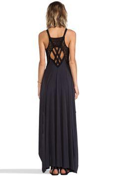 Free People Bonitas Back Maxi Dress in Black