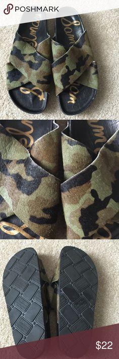 Sam Edelman Camo Faux Ponyhair Slides Sz 8 No Box Faux Ponyhair Camoflauge slides Sam Edelman Sz 8 . No box great condition original price was over $100 Sam Edelman Shoes Sandals