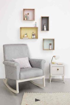 Olli Ella Ro Ki Rocker Nursery Chair In Dove Grey This Luxurious And Beautifully Comfortable From Is Compact Enough For Any