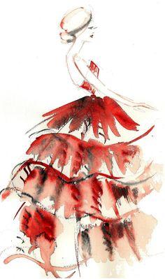Fashion illustrations / karen cox. karolina kierat