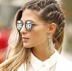 original ideas for hairstyles with pigtails 2018 - hairstyles with pigtails Girly Hairstyles, Medium Bob Hairstyles, Hairstyle Look, Braided Hairstyles, French Braid Pigtails, Pigtail Braids, Maiden Braid, Medium Hair Styles, Long Hair Styles