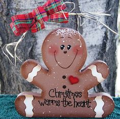 Gingerbread Cookie  Christmas Warms the Heart by Cherables on Etsy, $15.00