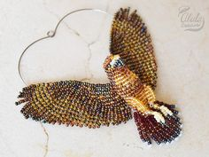 Red-tailed Hawk Suncatcher Beaded Bird Ornament Bird