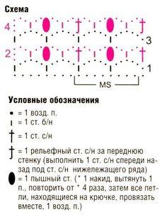 схема вязания узора крючком 17