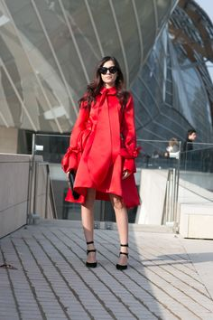 Beautiful red dress.