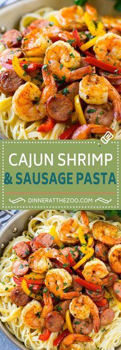 Cajun Shrimp and Sausage Pasta Recipe   Cajun Shrimp Pasta   Shrimp Pasta Recipe   Sausage Pasta Recipe