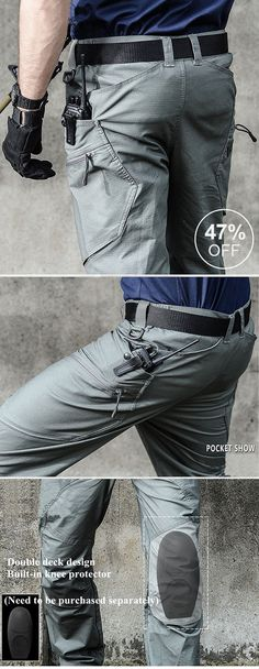 Mens Outdoor Muti-Pockets Pants Water-repellent Tactical Pants Military Training Pants is warm, see other men pants on NewChic. Tactical Wear, Tactical Pants, Tactical Clothing, Training Pants, Clothing Websites, Outdoor Outfit, Mens Fashion, Fashion Outfits, Work Pants