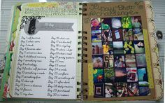 30 Day Photo Challenge for smash book. Could go along with a 30 day calendar Journal Prompts, Journal Pages, My Journal, Art Journals, 30 Days Photo Challenge, Art Journal Inspiration, Journal Ideas, Wreck This Journal, Smash Book