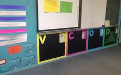 My new VCOP wall displays ready for the children to add their writing ideas for Term 2 Ks2 Classroom, Classroom Design, Classroom Themes, Diy Classroom Decorations, Classroom Displays, Preschool Class Rules, Literacy Working Wall, Literacy Display, Rainbow Learning