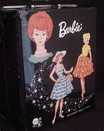 Vintage Barbie Doll Cases...mine is still around, as are the original Barbie's, and some of their clothes.  Now, my granddaughters play with them.