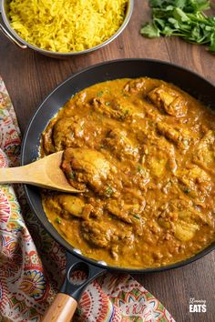 Chicken Dupiaza with Pilau Rice - create the perfect Indian takeaway meal at home with this delicious curry recipe using tender chicken thighs and double onions. Indian Chicken Recipes, Easy Chicken Recipes, Indian Food Recipes, Asian Recipes, Healthy Recipes, Ethnic Recipes, Indian Foods, Savoury Recipes, Lasagne Recipes
