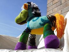 EXOTIC AuraChakra WildBumPony  Rainbow HORSE by TALLhappyCOLORS, €120.00