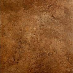 Style Selections Mesa Rust Glazed Porcelain Indoor/Outdoor Floor Tile (Common: 18-in x 18-in; Actual: 17.75-in x 17.75-in)