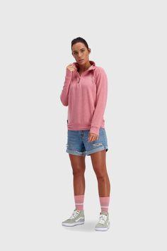 Mons Royale Women's Covert Lite Funnel Hood - Merino & Tencel - Weekendbee - sustainable sportswear Wanaka New Zealand, Dusty Pink, Sportswear, Underwear, Hoodies, Women, Sweatshirts, Parka, Hoodie