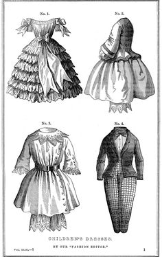 Vintage Printable  Victorian Children's Fashions Godey's