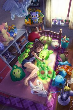 Or this...this could also be me, but with way more Pokemon in my room.