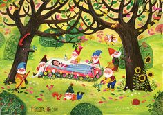 Project: Fairytale Snow White Illustrations: Miriam Bos Technique: Gouache + pencil on paper copyright by Miriam Bos please don't use without permission