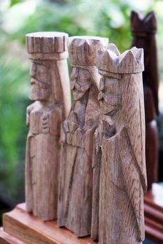 Talla en madera de los Reyes Magos | Flickr: Intercambio de fotos