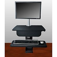 Clayton Sit to Stand Desk Mount with Single Monitor Arm, 8804467