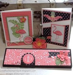 Creative Stampin' Spot: Stampin Friends June Blog Hop - Pop of Paradise, Botanical Builder Framelits,