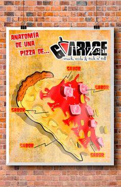 anatomía de una pizza de Garage Pizza, puro sabor!!!